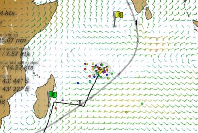 VORG 2011-2012: Flota en el Índico.