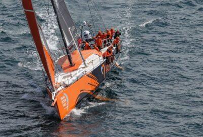 VOLVO OCEAN RACE 2014-15. In Port LORIENT. TEAM ALVIMÉDICA VENCE Y REMONTADA DE MAPFRE