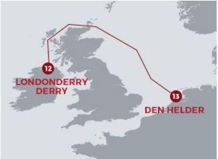 CLIPPER ROUND THE WORLD 2015-16. SALIDA 13ª DERRY-LONDONDERRY-DEN HELDER