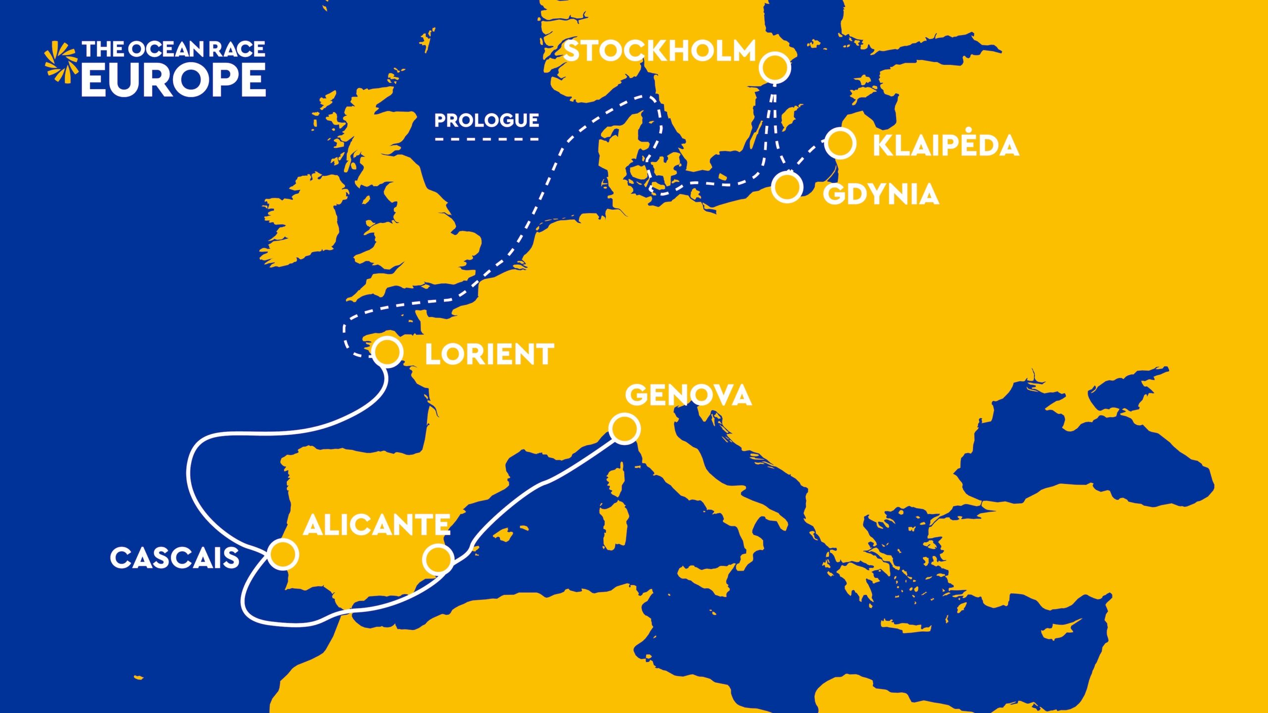 MAPA RECORRIDO THE OCEAN RACE EUROPE 20 ABR 2021
