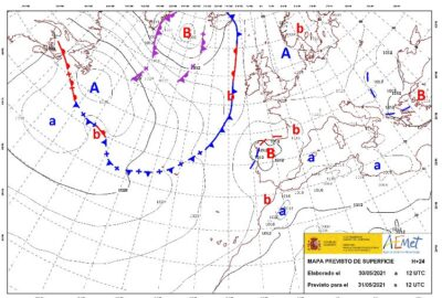 INFO METEO LOCALIDADES A 31 MAY. 2021 09:00 LT.